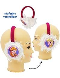 alles-meine.de GmbH Ohrenschützer - universal verstellbar -  Disney Frozen - die Eiskönigin  - aus Plüsch - für Kinder / Mädchen & Jungen - Prinzessin Olaf - Mädchenohrenschütz..