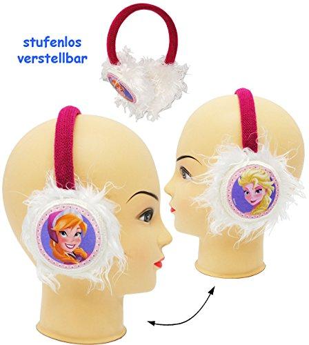 Ohrenschützer - universal verstellbar - ' Disney Frozen - die Eiskönigin ' - aus Plüsch - für Kinder / Mädchen & Jungen - Prinzessin Olaf - Mädchenohrenschützer / Ohrwärmer - Stirnband - Ohrenwärmer / Plüschohrwärmer - Mütze Winter - völlig unverfroren - Elsa Arendelle - Kinderschmuck - Haare Zopf - Accessoires - Mitgebsel - Ohrschützer - Erwachsene - Plüschohrenschützer Ohrenschutz - Fleece