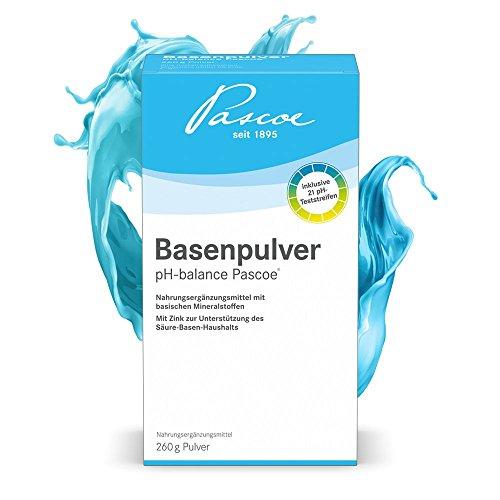 Basenpulver pH-balance Pascoe | inkl. pH-Teststreifen | vegan | 260 g