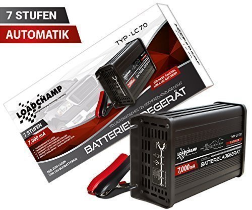 Loadchamp LC 7.0 Vollautomatisches Ladegerät (7000mA/7A) schwarz