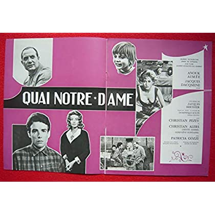 Dossier de presse de Quai Notre-Dame (1960) – 8 pages – Film de Jacques Berthier avec Anouk Aimée, Jacques Dacqmine – Photos N&B – Bon état.