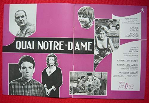 Dossier de presse de Quai Notre-Dame (1960) – 8 pages – Film de Jacques Berthier avec Anouk Aimée, Jacques Dacqmine – Photos N&B – Bon état. par Jacques Berthier