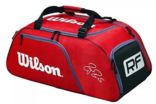 Wilson Schlägertasche Federer Team III Duffle Bag, rot, 77 x 37 x 31 cm, 88 Liter, WRZ677693