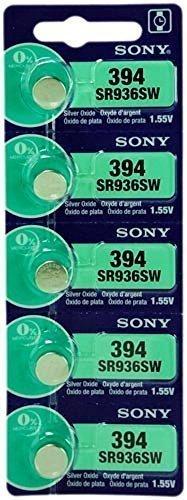 Sony - Batería para Reloj de Pulsera 1.55V, Óxido de Plata, Tipo Botón, 1 Tira de 5 Baterías, Varios Modelos 0%...