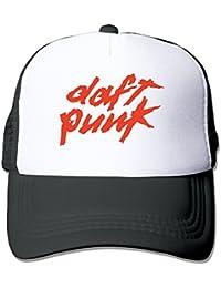 Men Mesh Cool Strapback Hat Daft Punk Electronic Duo Logo