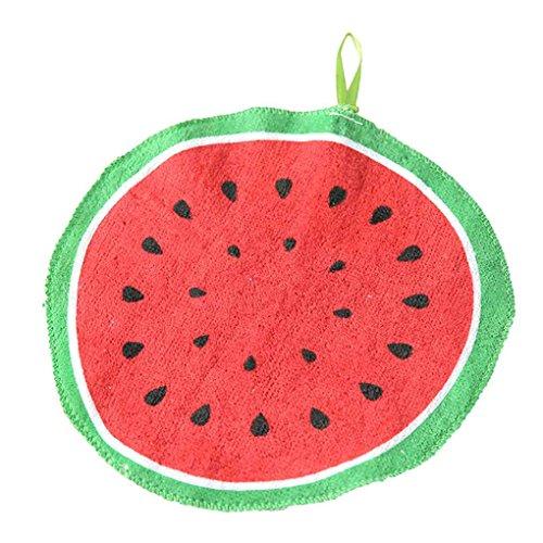 Cdrox Baby-Kind 20cm Runde Cotton Handtuch Küche Obst Wipe Dishcloth Küche Hängen Handtücher Waschlappen (Tragen Waschlappen)