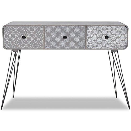 Furnituremaxi Seite Schrank/Konsole mit 3Schubladen ideal für Schlafzimmer Flur oder Wohnzimmer,...