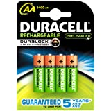 Duracell Rechargeable Accu 2400 mAh AA Batteries - 4 Pack
