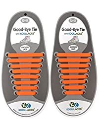 Gazechimp 1 Set Cordones Planos de Silicón Impermeable para Zapatos de Deportes Moda ShoeLaces - Naranja