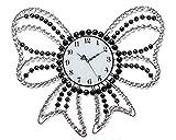 NWYJR Wanduhr Crystal Bows Eisen Mosaik Europäische Moderne Kreative
