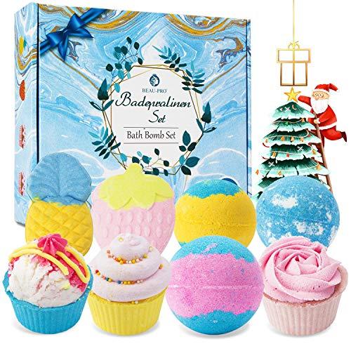 Badekugeln Badebomben Geschenkset - für Frauen Kinder - Luxury Bath Bomb Sprudel Farbintensive Schaumbäder mit Pure Natürliche Ätherische Öle Aromatherapie Spa für Feuchtigkeitsspendende Hautpflege