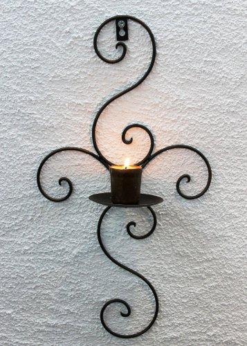 DanDiBo Wandkerzenhalter 12112 Kerzenhalter aus Metall Schmiedeeisen 48 cm Kerzenleuchter