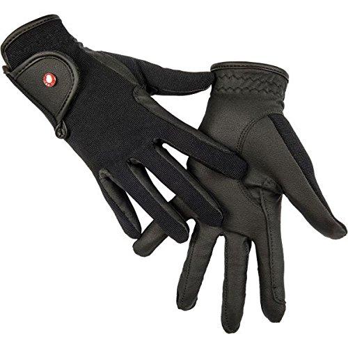 HKM Reithandschuh -Professional Soft Grip-, schwarz, Kinder 8 Jahre (14,5 cm)