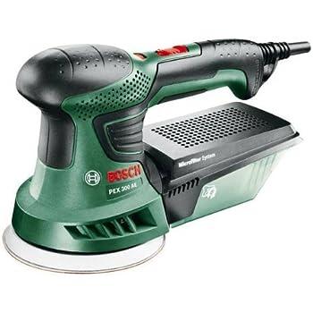 Bosch 06033A3000 PEX 300 AE Levigatrice con Valigetta, Nero/Verde