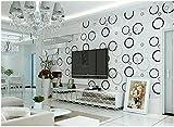 Yosot 3D Stereoskopische Einfache Moderne Fernseher Hintergrund Tapete Zimmer Zimmer Zimmer Zimmer Buchen Vlies Tapete Schwarz Und Weiß