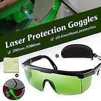 نظارات واقية من ماينستاياي بالليزر 200 نانومتر من 2000 نانومتر نظارات السلامة بالليزر OD4+ نظارات واقية أنيقة