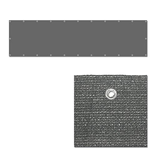 TW24 Balkonbespannung – Windschutz – Balkonverkleidung – Balkonsichtschutz groß 600x90cm mit Farbauswahl