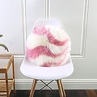 Cojines de lana de la siesta de la oficina de la almohada redonda rosada australiana de la lana ( Size : 40*40cm )