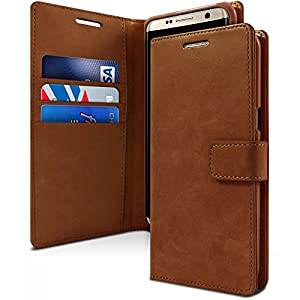 Accessories Innovator Leather Flip Wallet Style Case Cover Only for Samsung Galaxy S8 Plus - Brown
