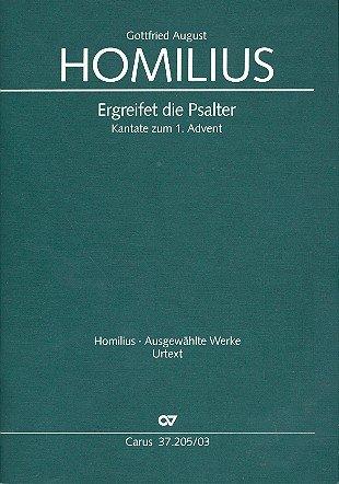 Ergreifet die Psalter HoWVII.1 : für Soli, 2 gem Chöre und Orchester