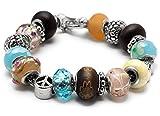 Best Cousin Bracelets - Cousin 19 Piece European Style Large Hole Bracelet Review