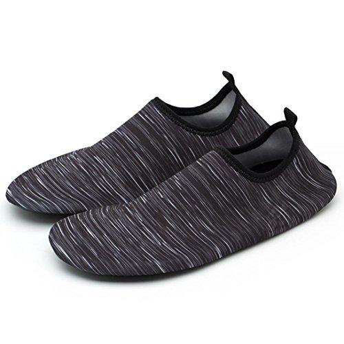 Malloom® Männer Frauen Yoga Surf Outdoor Wassersport Tauchen Schwimmen Strand Schnorcheln Socken Tauchen Socken Strand Socken Schuhe Schnorcheln Schwimmen Yoga Schuhe (46, Grau)