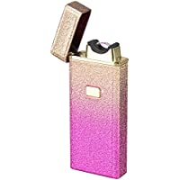 SHUNING Dull Polish Metal Casing Arc Lighter Rechargeable USB Electronic Lighters Single Arc Beam Cigarette Lighter Cigar Lighter No Gas Flameless Windproof