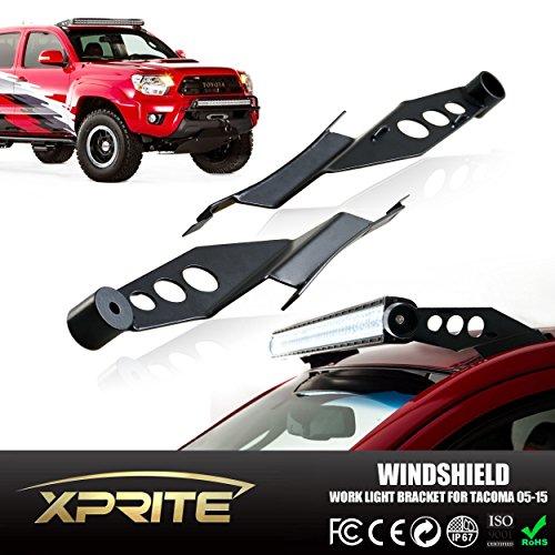 Xprite WLB-0045 LED-Arbeitsleuchte Bar Stahl Metall oberen Windschutzscheibe Halterungen, 127cm Cree Led Light Bar Kit
