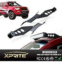 Xprite 2005–2015Toyota Tacoma 50dritta e curva led lavoro luce bar in acciaio superiore parabrezza staffe di montaggio