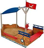 KidKraft 128 piratenschip zandbak, natuurlijke kleuren