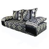 Casa Moro Orientalisches marokkanisches Sofa, Sitzkissen, Sitzecke, Sark Kösesi, Sitzgarnitur Nasiha Komplett gefüllt aus Marrakesch