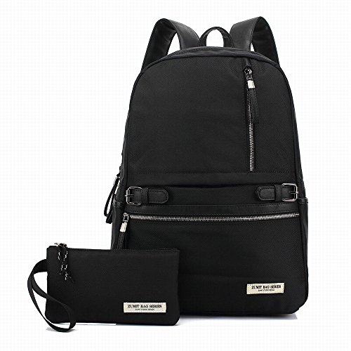 ZUMIT School Bag Laptop Business Backpack Rucksack with Pencil Case Set 15.6Inch Black #809