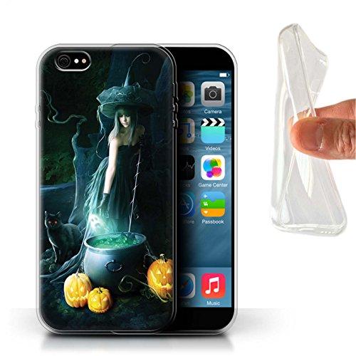 Officiel Elena Dudina Coque / Etui Gel TPU pour Apple iPhone 6+/Plus 5.5 / Sorcière Chaudron Design / Magie Noire Collection Sorcière Chaudron