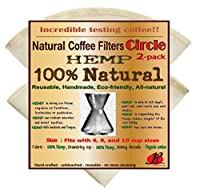 Reusable Coffee Filters for Chemex ,No Harmful Chemical ,All Natural ,2 Pack of P&F Circle Shaped Filters