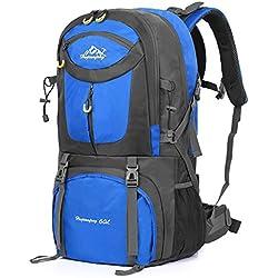 7d20b9634 Vbiger 60L Mochila Impermeable Mochila para Deporte al Aire Libre para Escalada  Senderismo Trekking Alpinismo con
