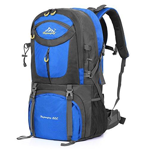 Imagen de vbiger 60l  impermeable  para deporte al aire libre para escalada senderismo trekking alpinismo con cubierta para la lluvia fruta verde