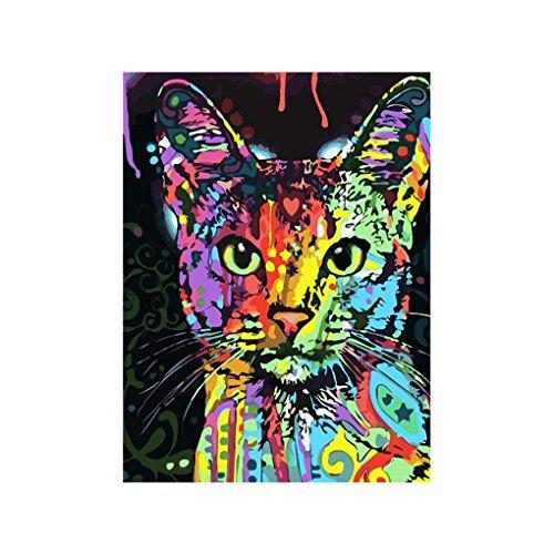 LUFA Bunte Katze Strass Malerei DIY Kristall-Stickerei Tier Kreuz-Stich-Wohnzimmer-dekorative Bild