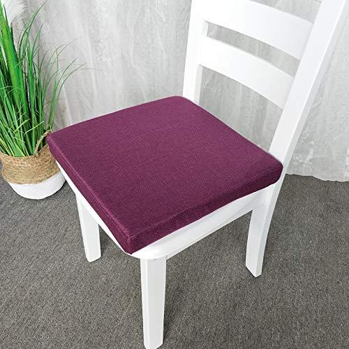 Schwamm Sitzkissen Einfarbig Dicke Baumwolle Und Leinen Atmungsaktiv Slip Chair Kissen Größe 40 × 40 × 5 cm FKMYS (Color : C) Leinen Slip