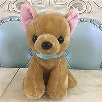 Toymio Mini Chihuahua Cachorro sentado Animales realistas Regalos para adultos y niños,7 pulgadas, 18 cm, Marrón, Juguete suave - Peluches y Puzzles precios baratos