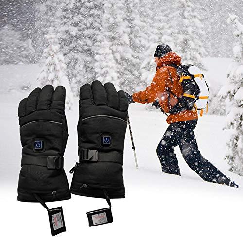 Beheizter Handschuh, 3-Wege-Schalter, Fünf-Finger, elektrisch beheizter Handschuh für Reiten, Motorrad-Handschuhe, Ski-Handschuhe, Unisex, 1, Large -