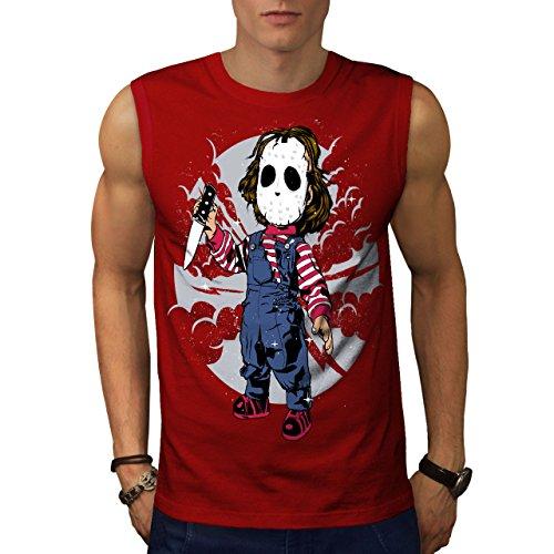 d Männer 3XL Ärmelloses T-Shirt (Beängstigend Masken Für Kinder)