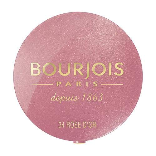 Bourjois Little Round Pot Blush, Fard Illuminante Compatto, 34 Rose d'Or