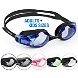 COPOZZ Swimming Goggles Come With Oversized Double Anti-Fog CoatedLenses And 3D Silicone Seals Giving Swimmers Crystal Clear Vision And No Leaking, Suitable for Adults Men Women and Kids 10+, Blue