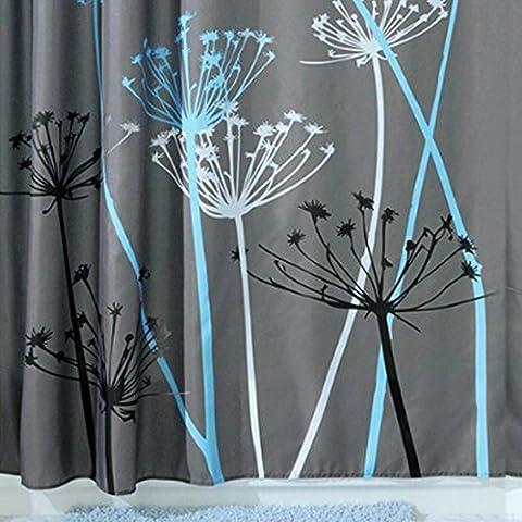 Sannix Pissenlit Rideau de douche, 72x 182,9cm, gris/bleu
