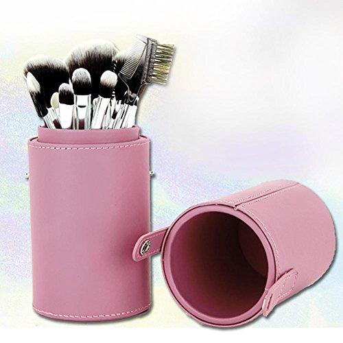 Everpert Porte-pinceaux de maquillage en cuir pour maquillage