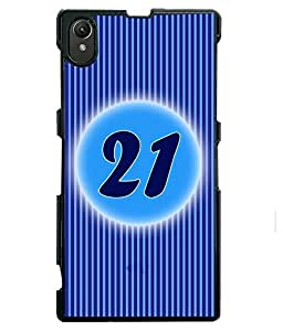 Fuson 2D Printed Numerology Designer back case cover for Sony Xperia Z1 - D4241