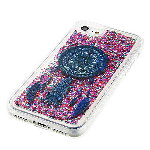 iPhone 7 / iphone8 (4.7 Zoll) Hülle,Silikon Hülle für iPhone 7 (4.7 Zoll) , für iPhone 8 (4.7 Zoll) Glitzer Hülle Regenbogen,Luxus Glänzend Glitzer Schutzhülle Bling Strass TPU Silikon Hülle für Apple 6