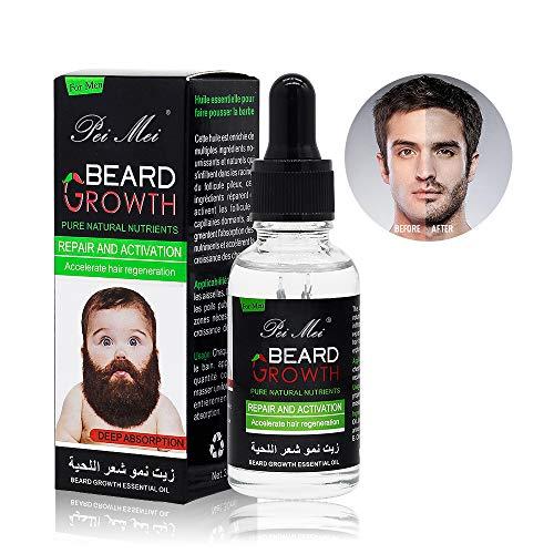Olio Cura Barba,Duvina olio di barba, Olio da barba, Nutre la barba in profondità favorendo una crescita sana, Beard Maintenance, Olio da Barba per Uomo, Un Ammorbidente per la Barba (30ml)