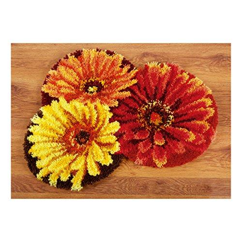 Vervaco PN-0149415 VER - Tappeto sagomato a forma di fiori