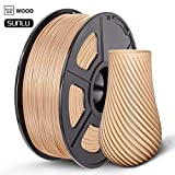 SUNLU 3D Printer Filament PLA, 1.75mm PLA Wood Filament, 3D Printing Filament Low Odor, Dimensional Accuracy +/- 0.02 mm, 2.2 LBS (1KG) Spool, Wood ...
